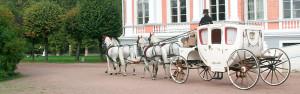 Белая свадебная карета