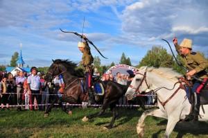 Джигитовка на конном шоу