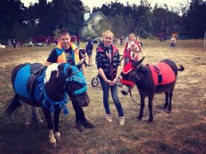 Пони и ослик для детей