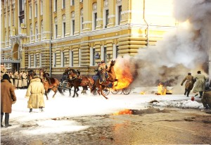 Лошади и взрыв кареты в кино