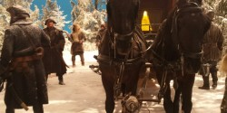 Лошади и каскадеры на съемках кино