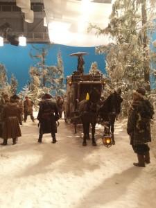 Лошади на съемках кино в павильонах
