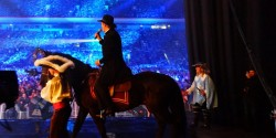 Лошадь на сцене Олимпийского