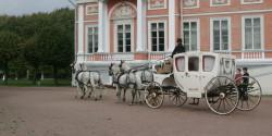 Лошадиная четверка и карета на свадьбу