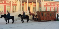 Конные сани на съёмках фильма